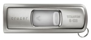 SanDisk Ultra Cruzer Titanium USB Flash Drive