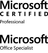 I'm a Microsoft Certified Professional and a Certified Office Specialist