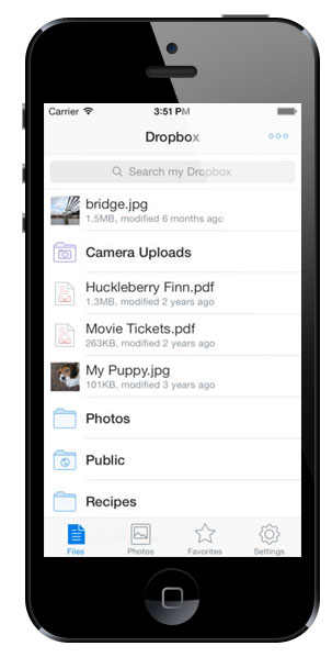 Dropbox 3.0 for iOS